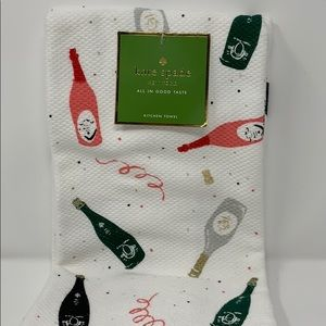 Kate Spade Champagne Celebration 2 kitchen towels